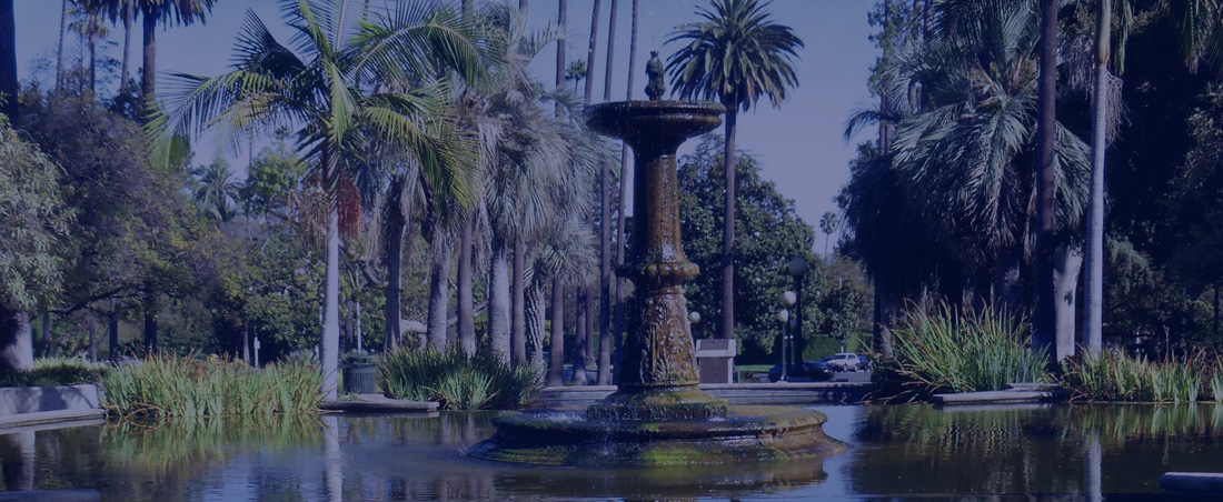 The Fountain at Will Rogers Memorial Park, Beverly Hills, CA